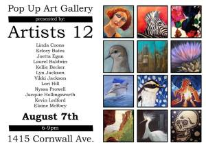 Artists 12 8-7-2015 Pop-Up Gallery