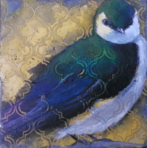 Idle VioletGreenSwallow 6x6